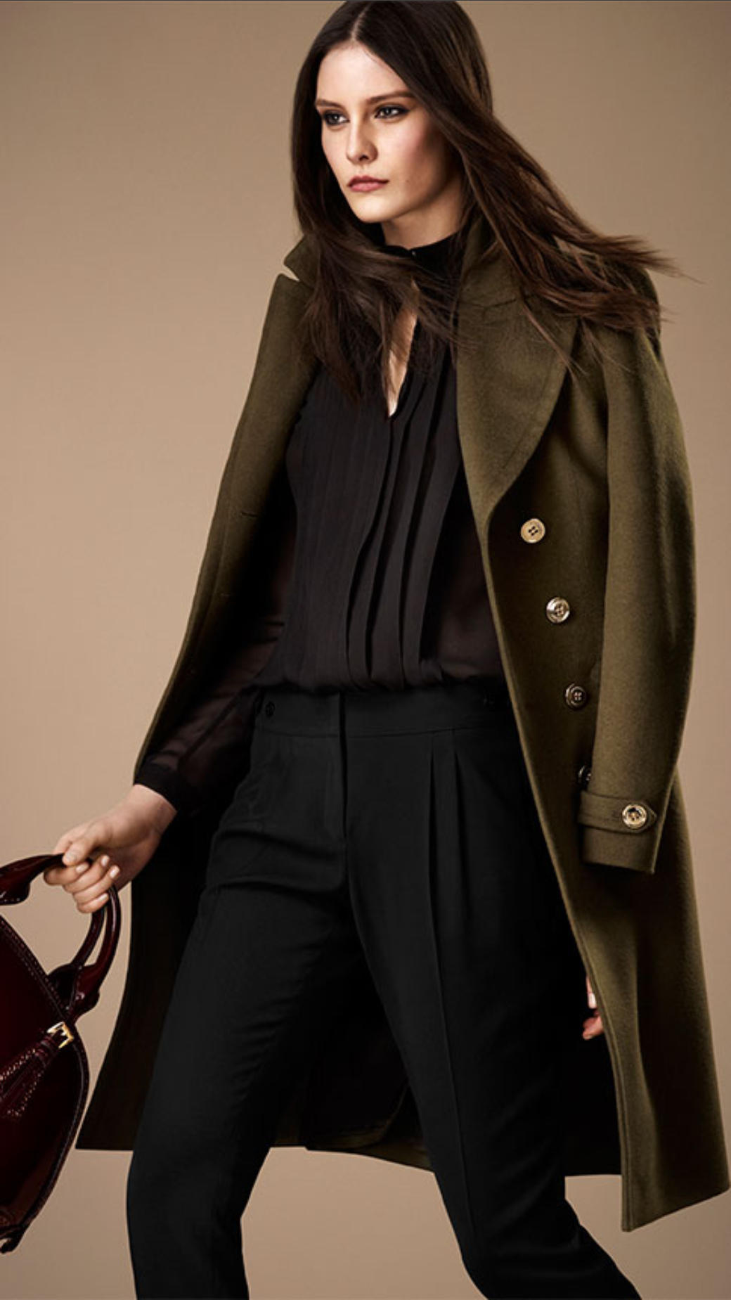 Lyst - Burberry Wool Cashmere Military Coat in Green Vans Careers
