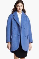 Carven Double Breasted Coat - Lyst