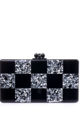 Edie Parker Jean Checkerboard Box Clutch - Lyst