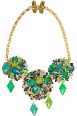 Erickson Beamon Girls On Film Gold Plated Swarovski Crystal Necklace - Lyst