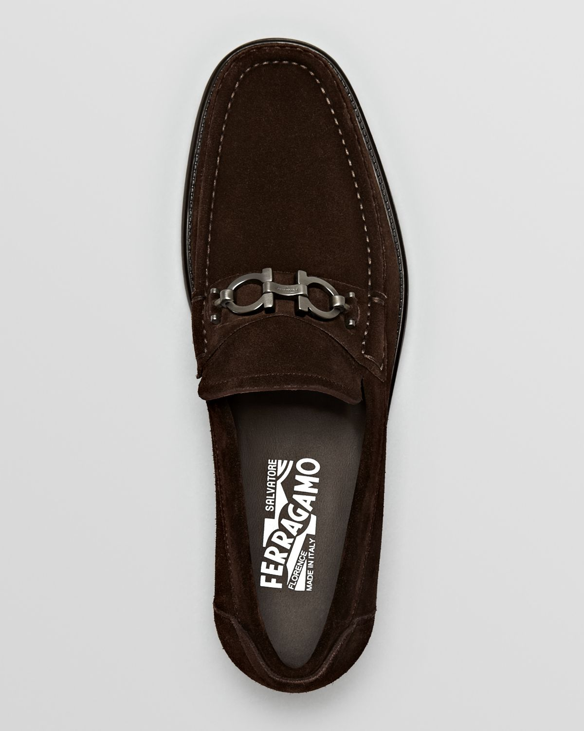 39b2cd40bf0 Lyst - Ferragamo Master Suede Loafers in Brown for Men