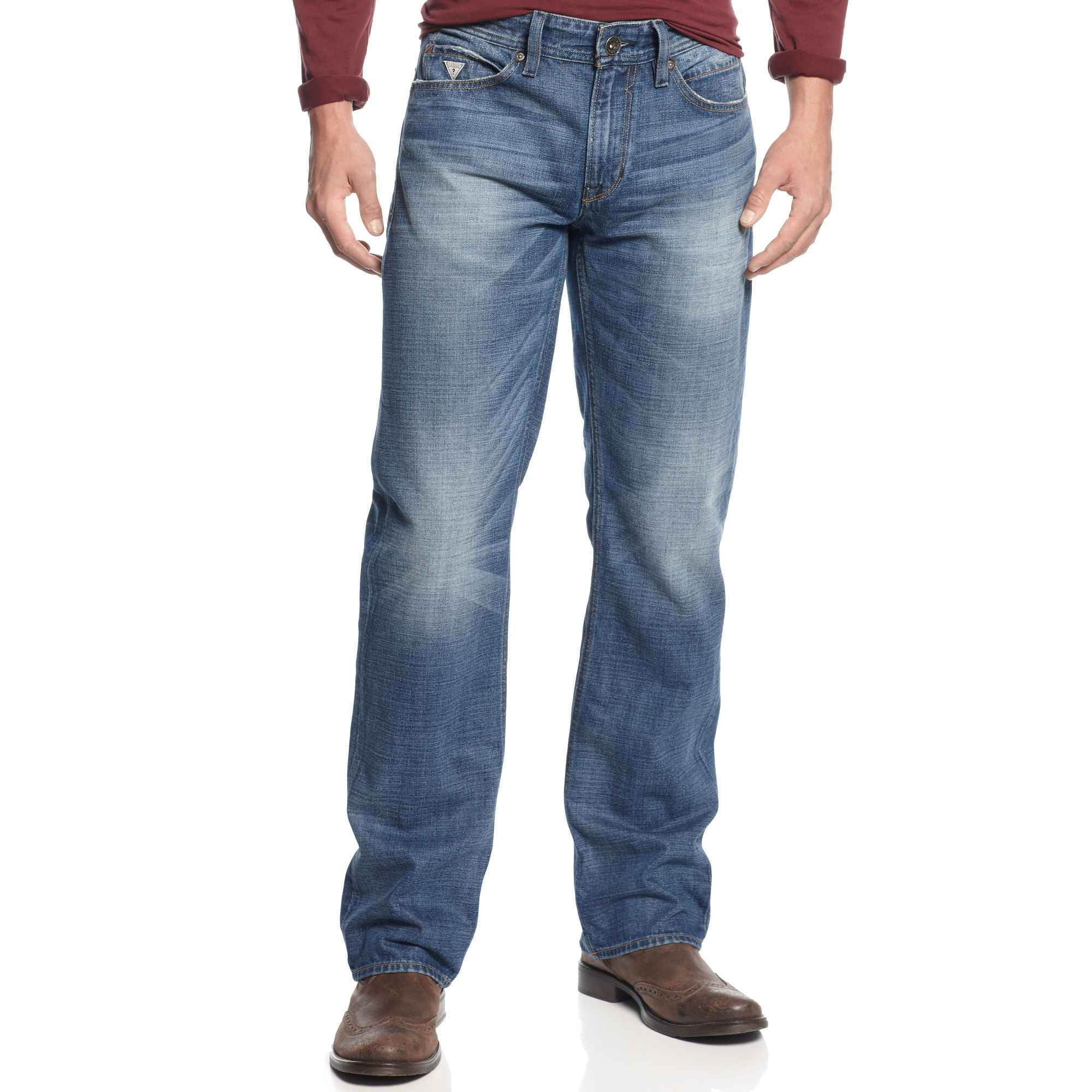 Guess Jeans Desmond Expedition Wash Relaxed Fit In Blue