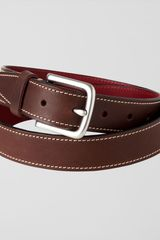 Jaeger Contrast Stitch Leather Belt - Lyst