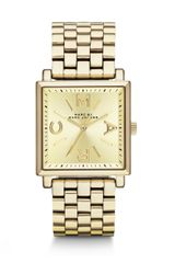 Marc By Marc Jacobs Gold Tone Stainless Steel Square Watch - Lyst