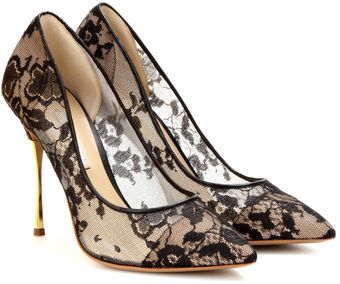 Nicholas Kirkwood Lace Pumps with Metallic Stiletto Heel - Lyst