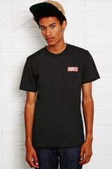 Obey Bar Logo Pocket Tee in Black - Lyst
