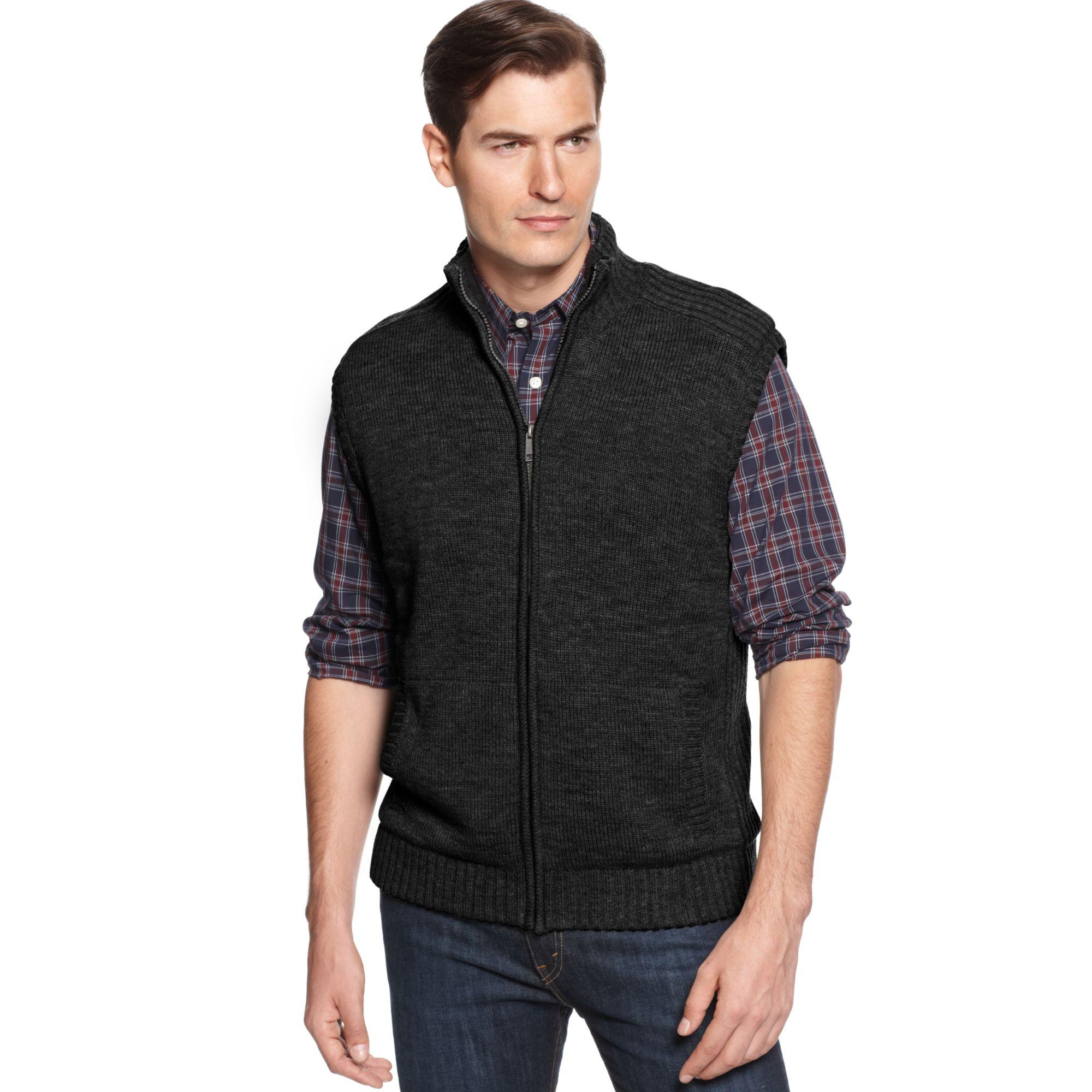 Oscar de la renta Zip-Front Mock Neck Microsherpa-Lined Sweater ...
