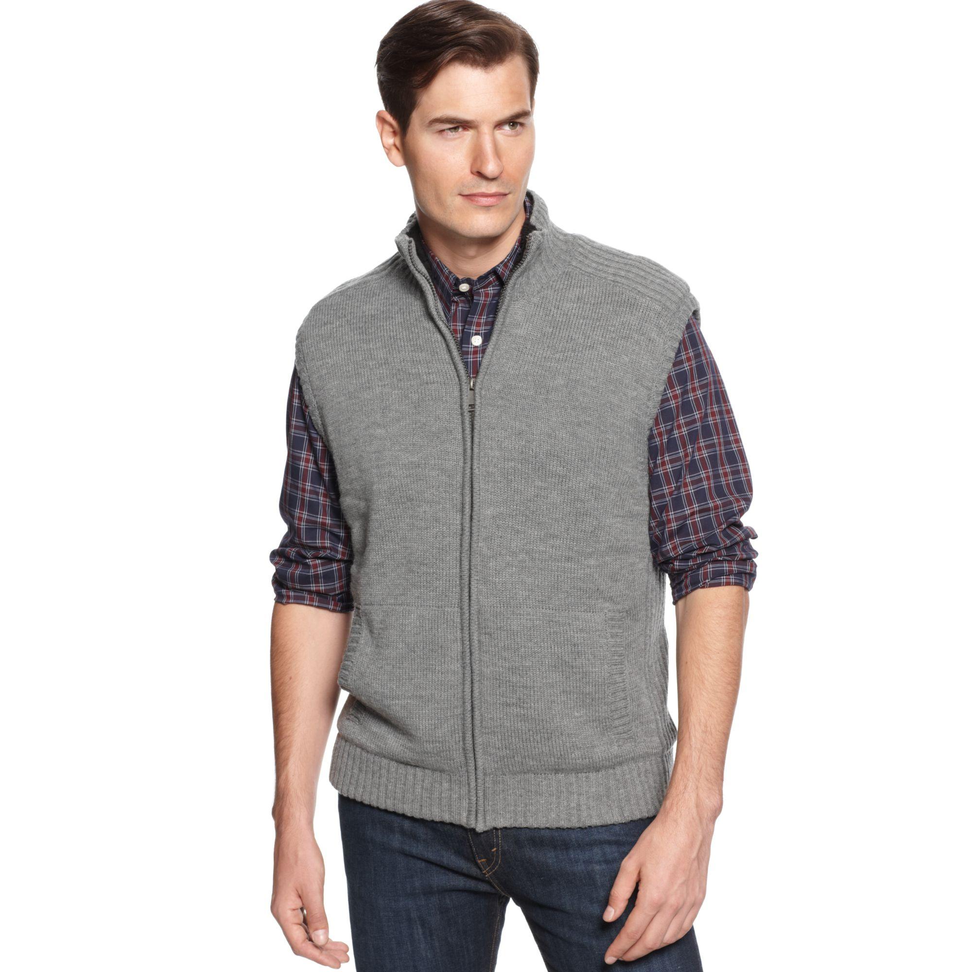 Oscar de la renta Zipfront Mock Neck Microsherpalined Sweater Vest ...