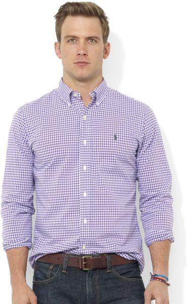 Ralph Lauren Classic Fit Long Sleeve Checked Sport Shirt