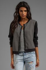 Sanctuary Quilted Soft Varsity Jacket in Gray - Lyst
