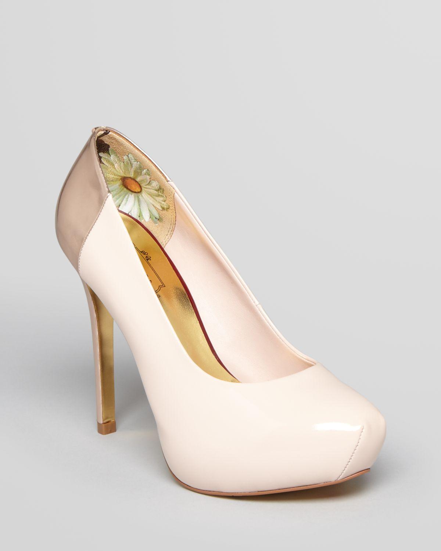 ted baker almond toe platform pumps misao high heel in