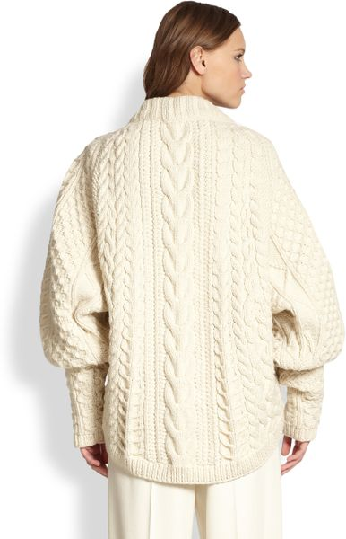 Winter White Cable Knit Sweaters 19