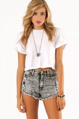 Tobi Washed Away Denim Shorts - Lyst