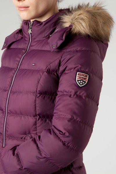 tommy hilfiger martina hooded jacket in purple lyst. Black Bedroom Furniture Sets. Home Design Ideas