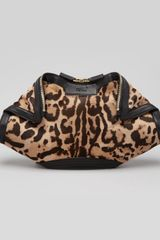 Alexander McQueen Demanta Leopard Print Calf Hair Clutch Bag - Lyst