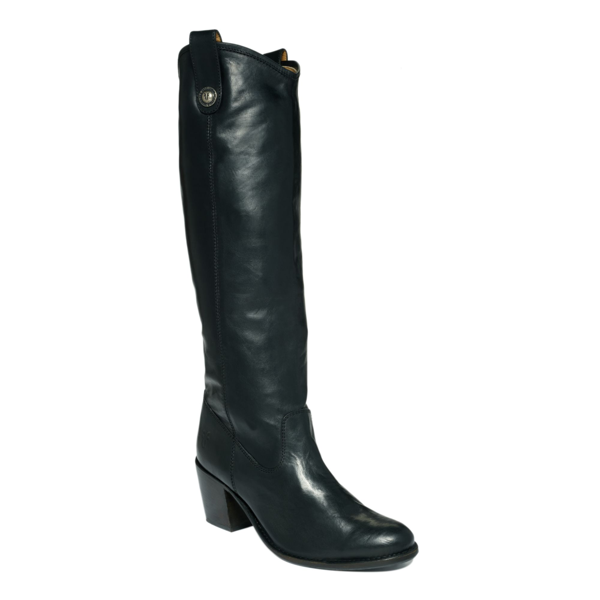 frye jackie button boots in black black vintage lyst