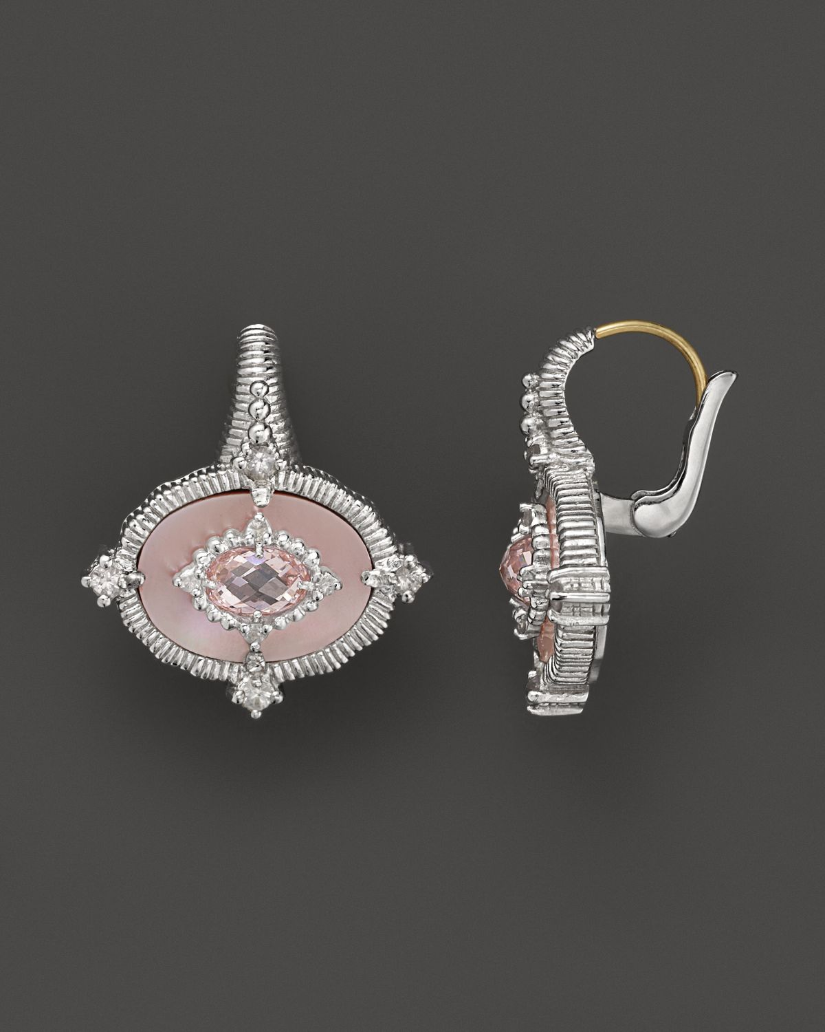 Lyst Judith Ripka Small Oasis Earrings With Pink Mother