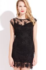 Mark + James By Badgley Mischka Mini Beaded Slip Dress - Lyst