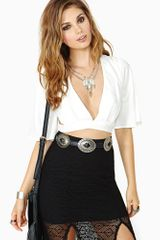Nasty Gal Slow Dance Crop Top Ivory - Lyst