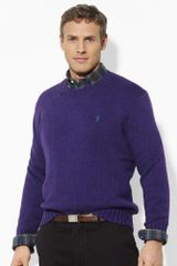 Big & Tall Cotton Crewneck Sweater - Lyst