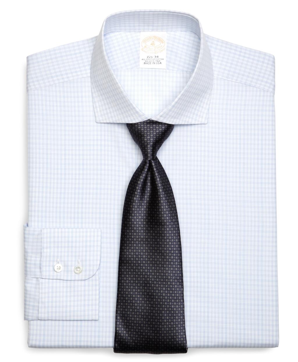Lyst brooks brothers golden fleece regent fit small for Small collar dress shirt