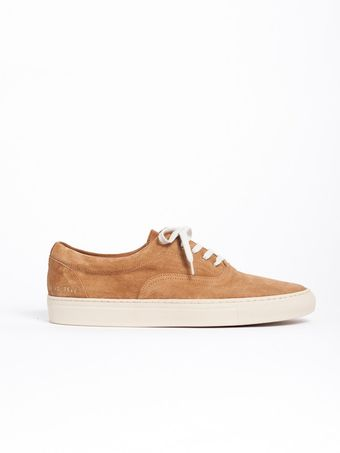 Common Projects 5 Hole Slip On Tan - Lyst