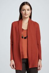 Eileen Fisher Merino Links Long Cardigan - Lyst
