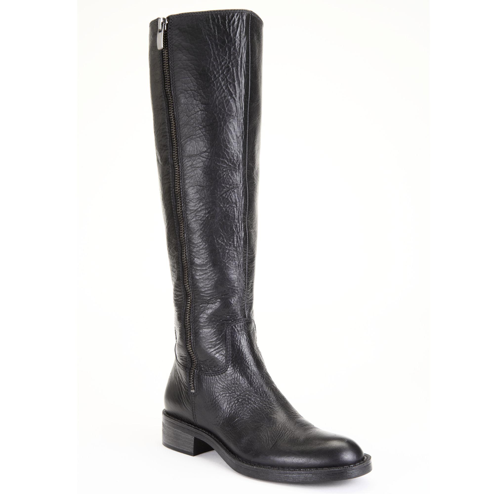 enzo angiolini shobi boots in black black leather