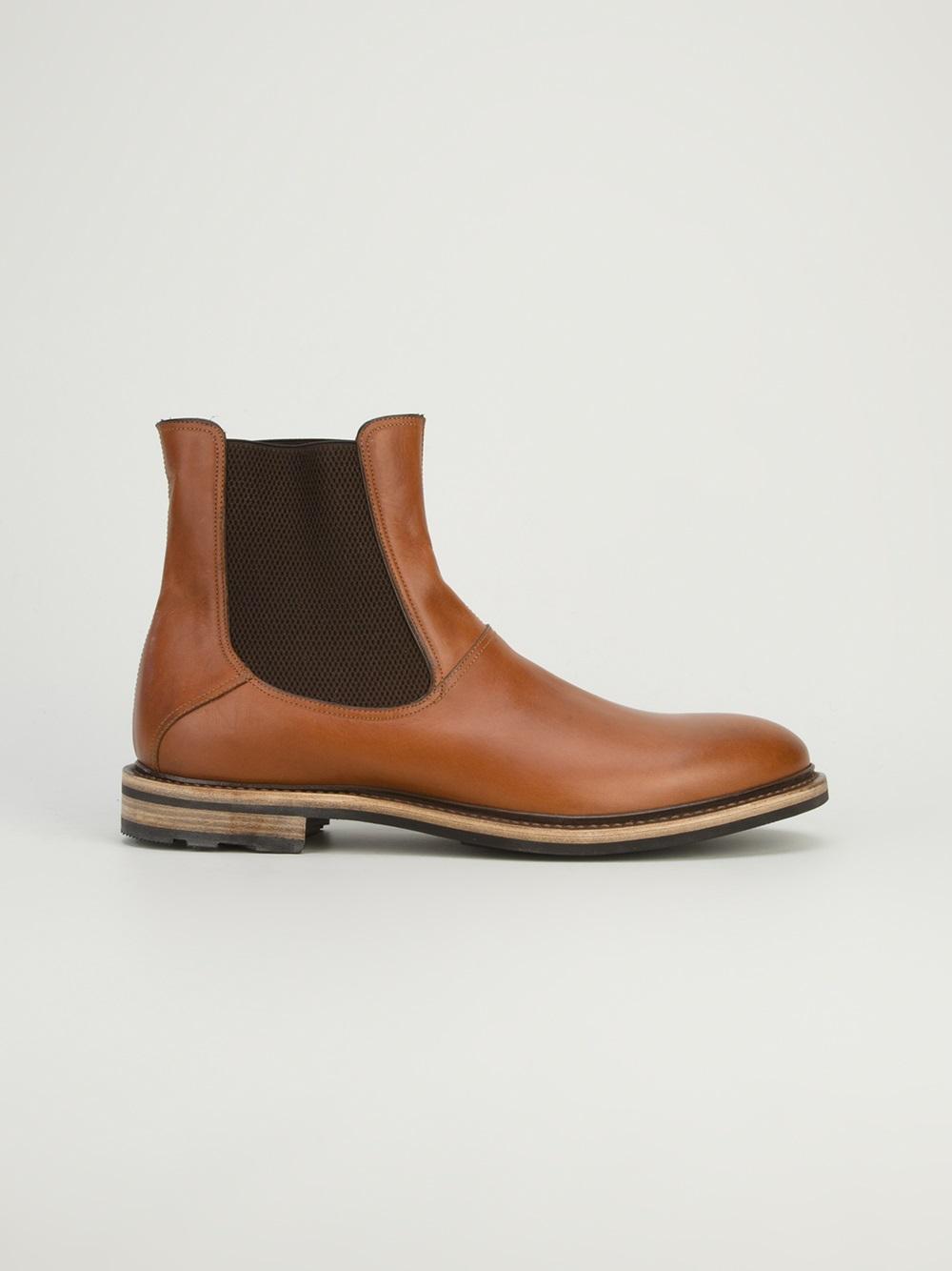 Lyst Fratelli Rossetti Chelsea Boot In Brown For Men
