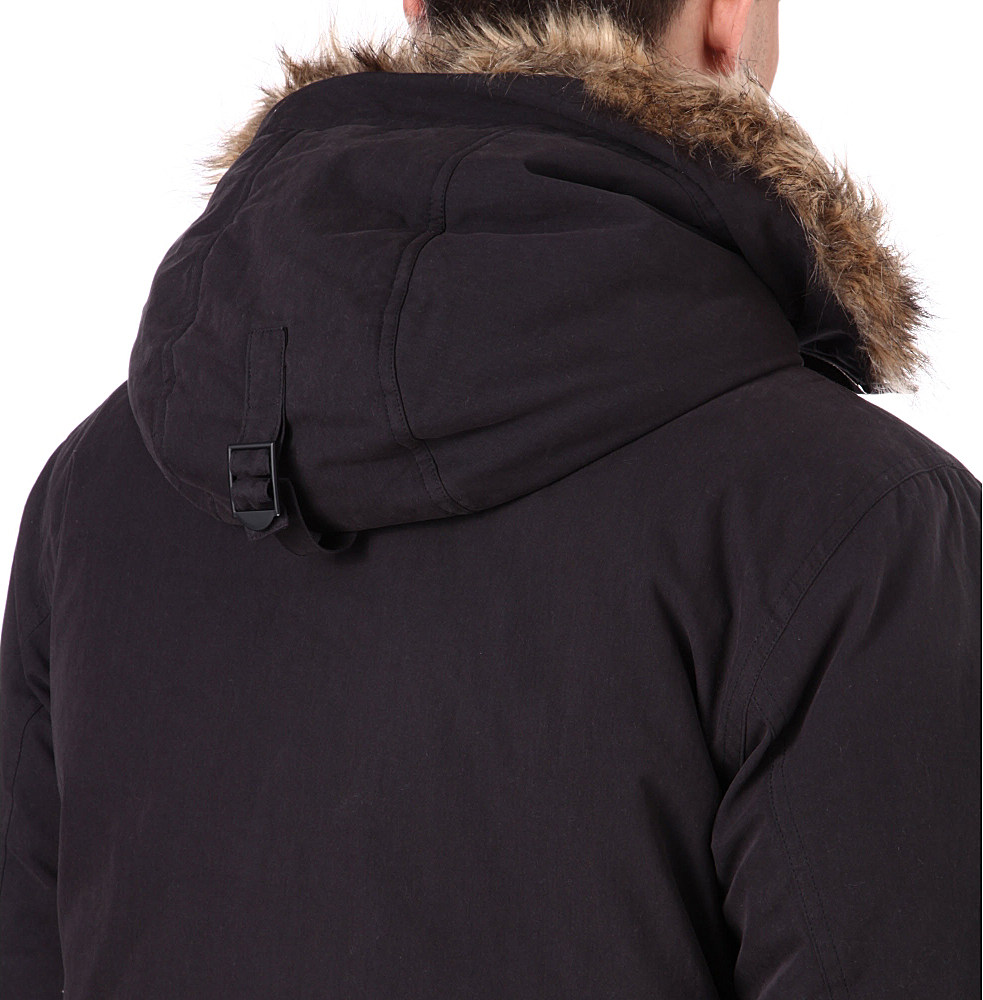 22e6c371a7 Fred Perry Down Snorkel Parka Jacket in Black for Men - Lyst