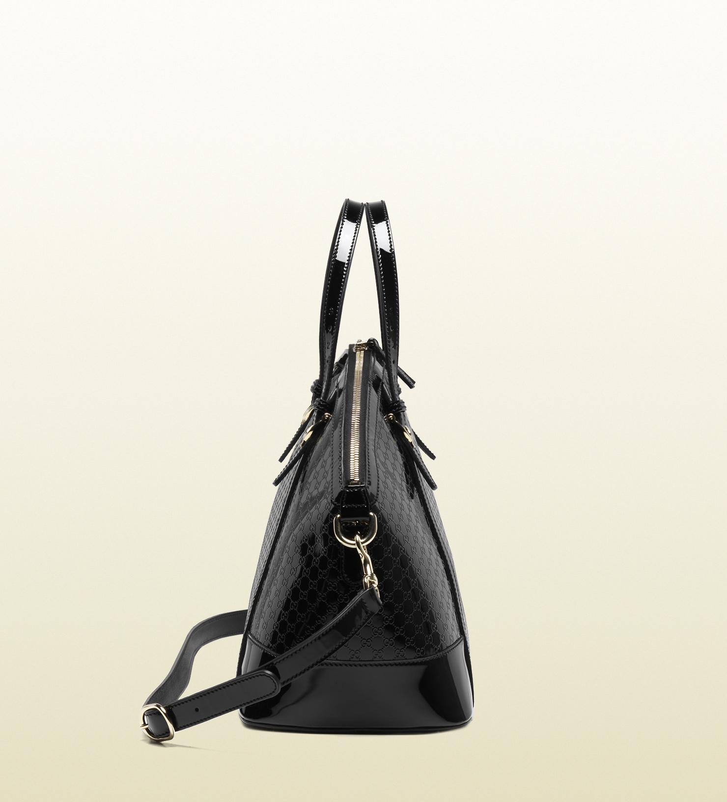 a9ef4e5de125 Gucci Gucci Nice Micro=guccissima Patent Leather Top Handle Bag in ...