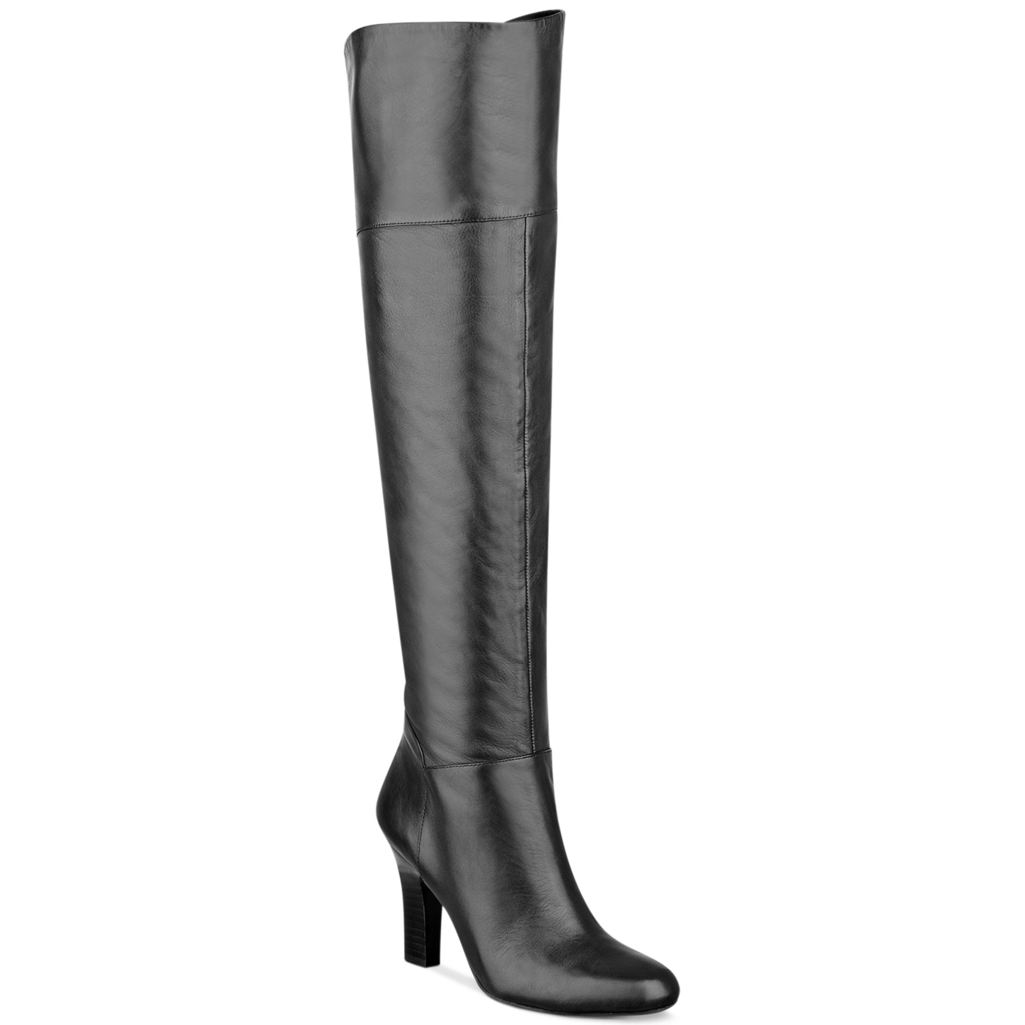guess rumella the knee boots in black black leather