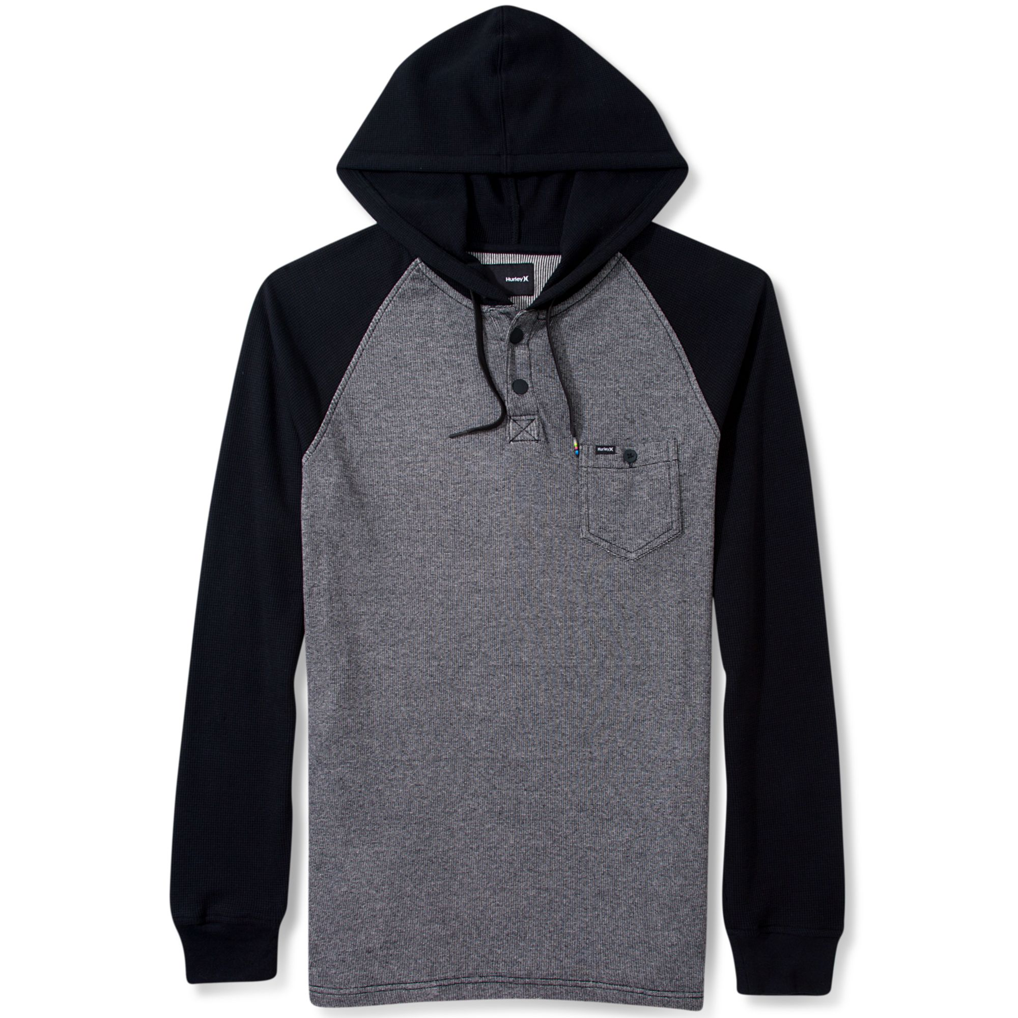 Hurley Collab Pullover Thermal Hoodie in Gray for Men | Lyst