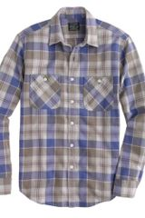 J.Crew Flannel Shirt in Desert Sand Plaid - Lyst