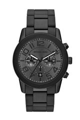 Michael Kors Oversize Black Stainless Steel Mercer Chronograph Watch - Lyst