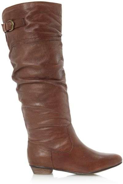 steve madden craave sm slouch high boots in brown lyst