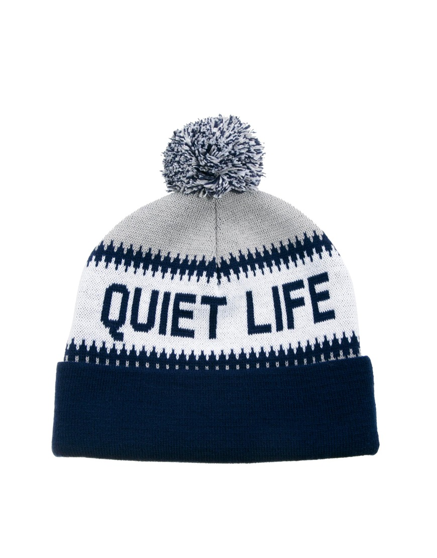 603fcfe1d04 Lyst - The Quiet Life Flake Bobble Hat in Blue for Men