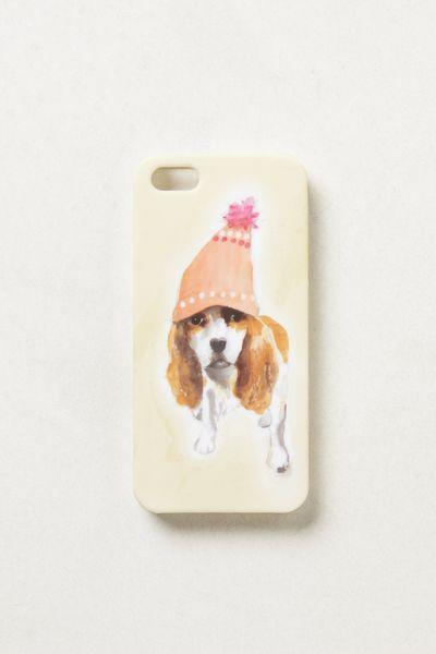 Anthropologie Brushstroke Pup Iphone 5 Case in White  IVORY  Lyst hvZvaLwQ