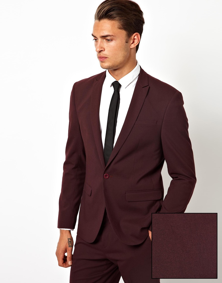 Shop for the perfect burgundy men's suit, burgundy jacket and burgundy topcoat at Suits Outlets. Find the latest modern men's designer wear. burgundy is probably the most popular color after It is a good color balancing formal and casual.