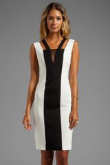 Black Halo Vincent Face Tank Dress in Ivory - Lyst