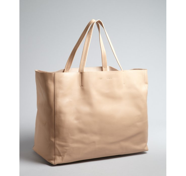 C¨¦line Beige Leather Large Tote Bag in Beige | Lyst