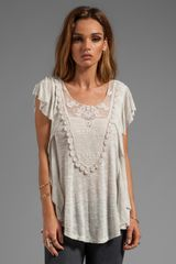 Free People Lil Luella Top in Ivory - Lyst