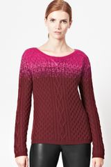 French Connection Ombre Cable Knitted Jumper - Lyst