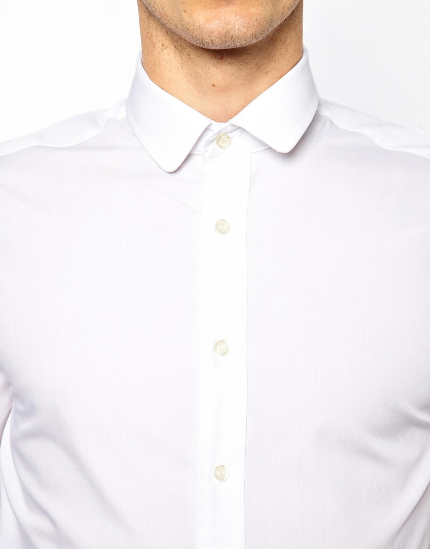 special discount hot-selling genuine compare price Lambretta Penny Collar Shirt in White for Men - Lyst
