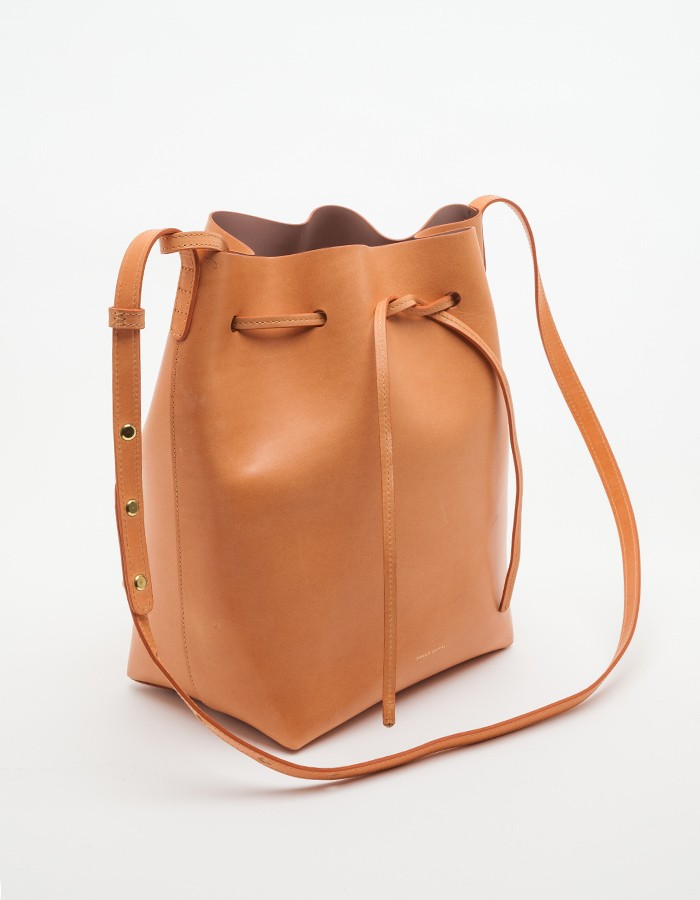 mansur gavriel bucket bag in brown cammello antico lyst. Black Bedroom Furniture Sets. Home Design Ideas