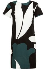 Marni Abstract Printed Cotton Dress - Lyst