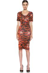 McQ by Alexander McQueen Jacquard Floral Tiger Dress - Lyst