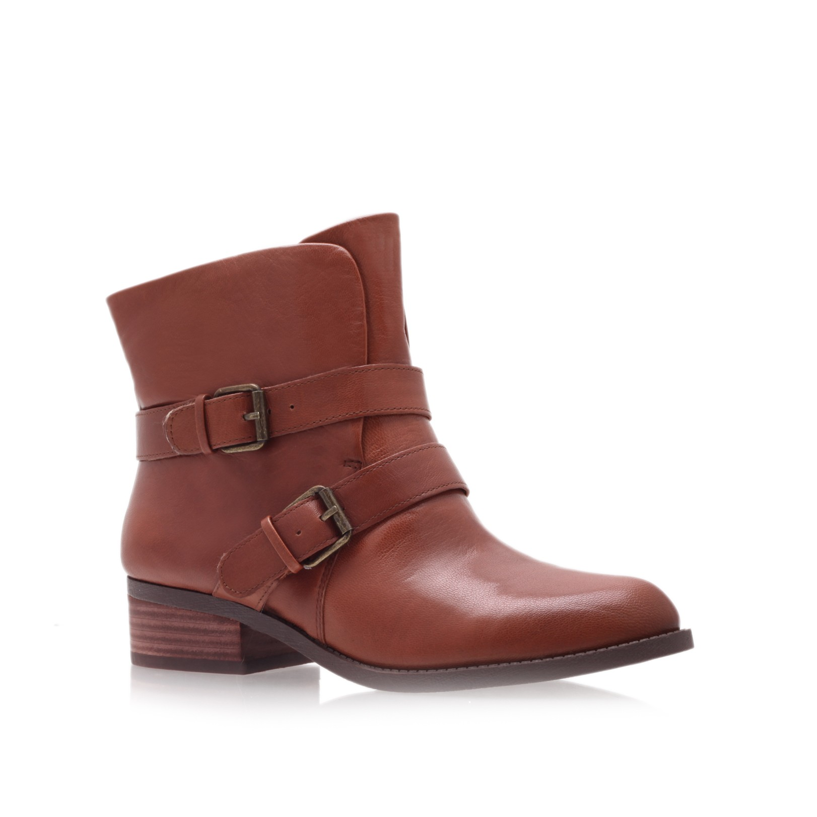 nine west pippy ankle boots in brown lyst