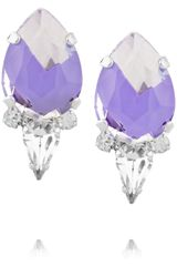Noir Jewelry Silver Plated Crystal Earrings - Lyst