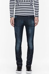 Nudie Jeans Blue Organic Faded Tape Ted Jeans - Lyst